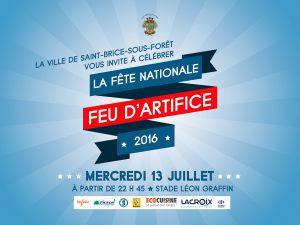 Fête nationale le mercredi 13 juillet 2016