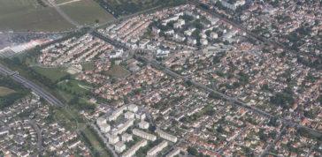 La ville de Taverny vue du ciel